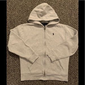 Polo by Ralph Lauren gray hoodie size M (10-12)